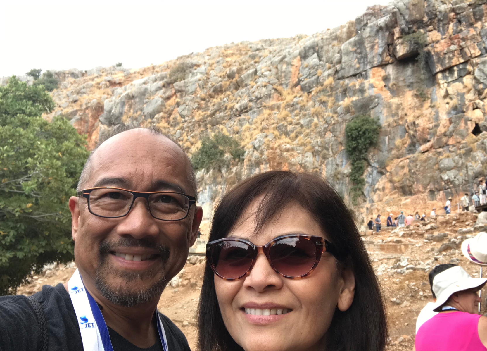 Mike & Mona at Caesarea Philippi